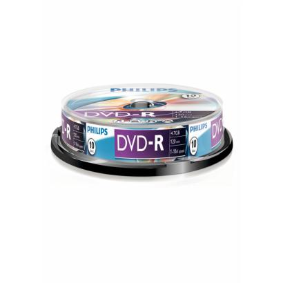 Phlips DVD-R Cake Box 10 pack