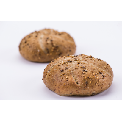 Kaiser roll with seeds and rye