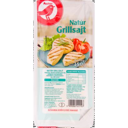 Auchan grillsajt félkemény, félzsíros, hevített-gyúrt sajt védőgázas csomagolásban 2*75 g
