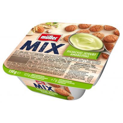 Müller Mix Pisztácia ízű joghurt amarettivel 130 g