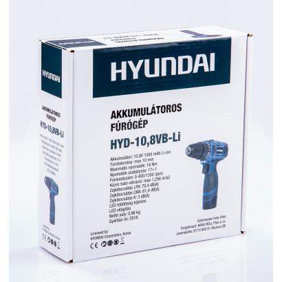 Hyundai Akkus HYD-10,8V Fúró-csavarozó Li-ion