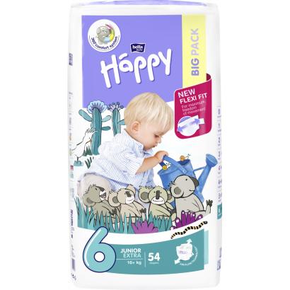 Bella Baby Happy eldobható pelenka junior extra 54 db