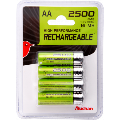 Auchan Rechargeable battery AA LR6, 2500mAh, 4 pcs