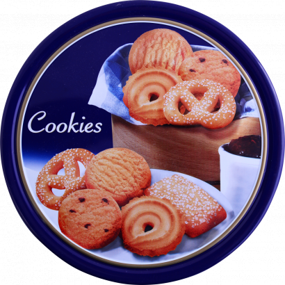 ASSORTED COOKIES IN TIN 454G