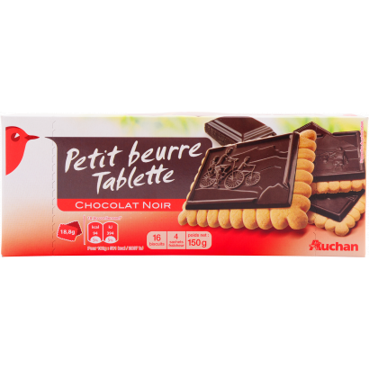 Auchan vajas keksz étcsokoládés  150 g