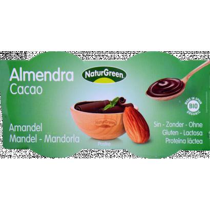 Natur Green bio mandula-csokoládé desszert 2 × 125 g