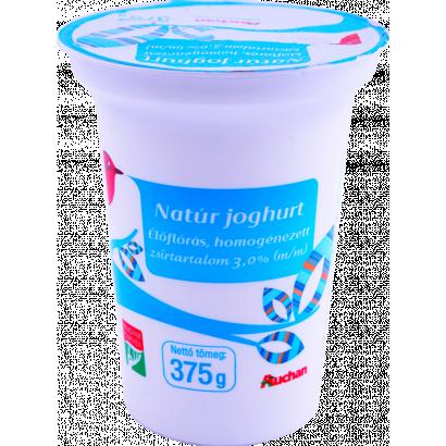 Auchan natúr joghurt 375 g