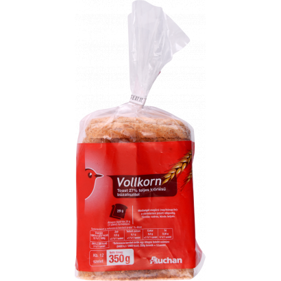 AUCHAN VOLLKORN TOAST with whole grain flour 350g