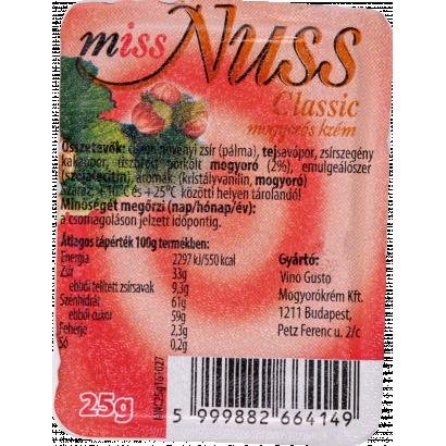Miss nuss mogyorókrém mini 25 g