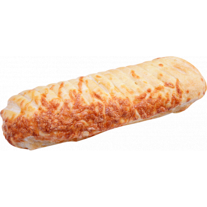 Baguette with cheese spread