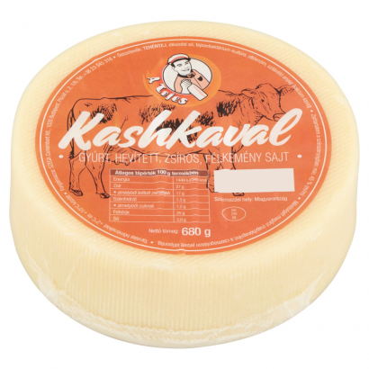 A Tejes Kashkaval natural cheese