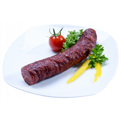 Gyulai handcrafted thin sausage - in counter