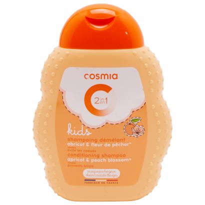 Cosmia kids kifésülést könnyítő sampon 2 az 1Nívóben sárgabarack&őszibarackvirág 250 ml