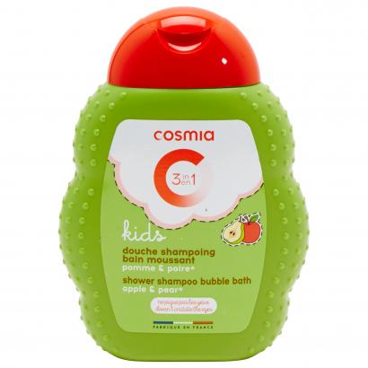 Cosmia kids tusfürdő sampon habfürdő 3 az 1Nívóben alma&körte 250 ml