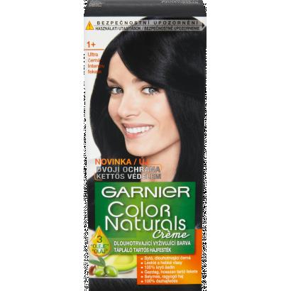 Garnier Color Naturals Creme 1+ intenzív fekete tápláló tartós hajfesték