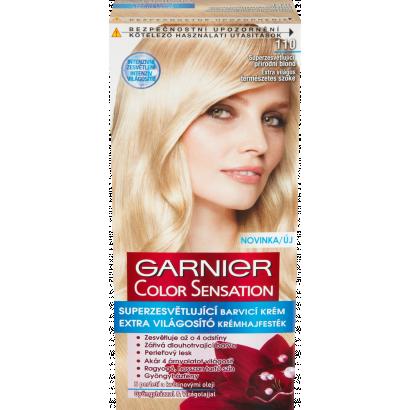 Garnier Color Sensation 110 extra világos természetes szőke extra világosító krémhajfesték