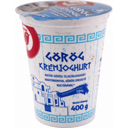 Auchan Nívó natúr görög tejszínjoghurt hagyományos görög eredetű kultúrával* 400 g