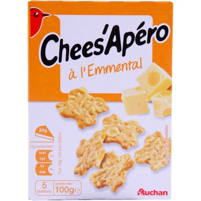 Auchan sajtos snack 100 g
