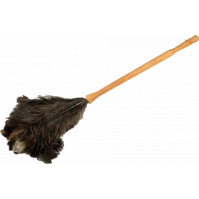 ACTUEL-FEATHER DUSTER OSTRICH WITH WOODEN HANDLE