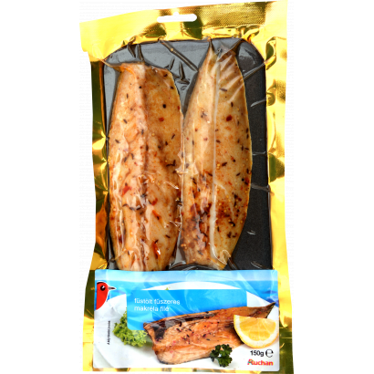 Auchan smoked, spicy mackerel fillet with onion 150 g