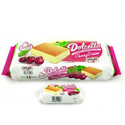 Freddi Laktóz mentes cseresznyekrémes piskóta szeletek egyesével csomagolva (8x25g)200 g
