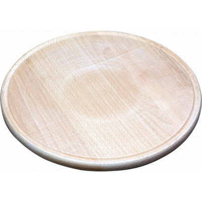"""ROUND WOODEN PLATE """"SMALL"""""""