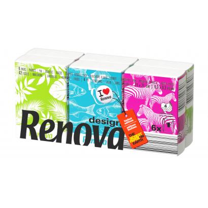 Renova Design 4 rétegű papír zsebkendő