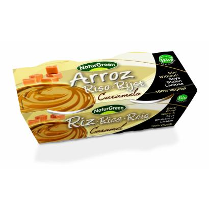 NaturGreen Bio Rizs desszert karamellával 2x125 g