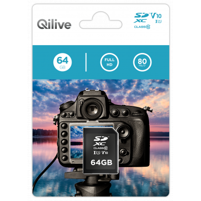 Qilive SD card 64GB - Cl.10 UHS-I U1 V10