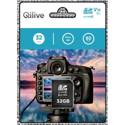 Qilive SD card 32GB -  Cl.10 UHS-I U1 V10