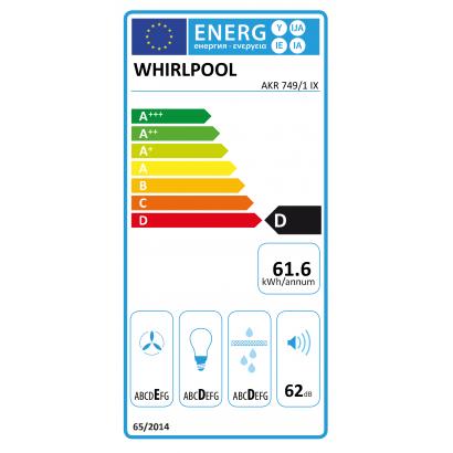 Whirlpool AKR749/1IX beépíthető páraelszívó
