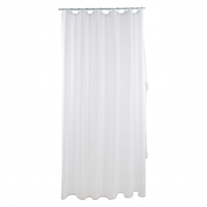 ACT/ SHOWER CURTAIN, POLYESTER 75GSM, 180X200CM,CL: SOLID COLOR WHITE
