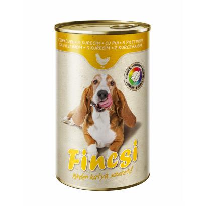Fincsi teljes értékű állateledel felnőtt kutyák számára csirkével 1240 g