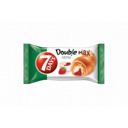 7DAYS Doub!e Max Croissant with Vanilla Flavour and Strawberry Fillings 80 g