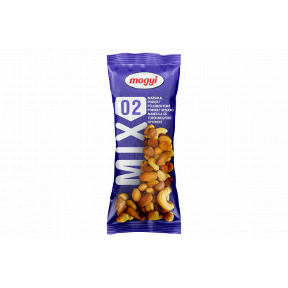 Mogyi Mix 02 mazsola, pörkölt földimogyoró, pörkölt kesudió, mandula és törökmogyoró keveréke 100 g