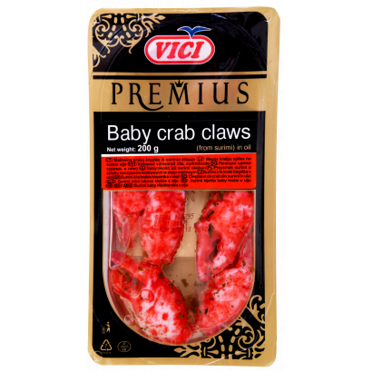 Vici Premius Baby Crab Claws from Surimi in Oil 200 g