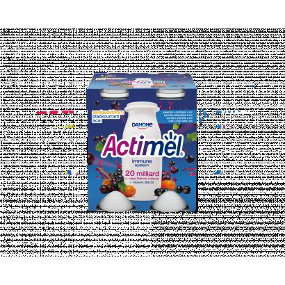 Danone Actimel feketeribizli-, acai-, homoktövisízű joghurtital 4 x 100 g (400 g)