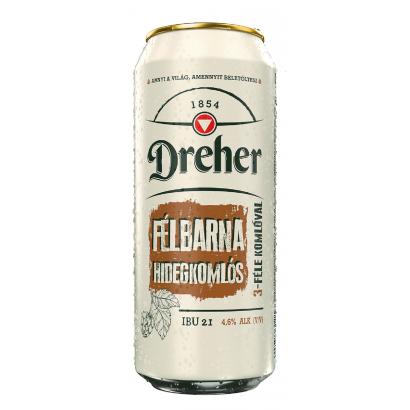 Dreher Hidegkomlós félbarna sör 4,6% 0,5 l