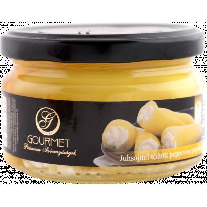 Juhsajttal töltött savanyított csípős pepperóni paprika