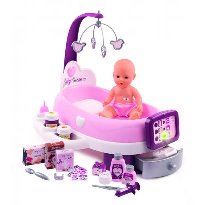 Smoby Baby Nurse elektromos ápoló szett
