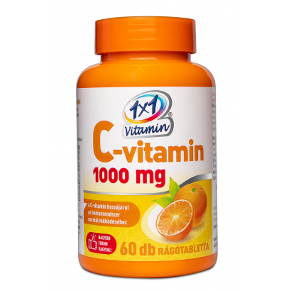 1x1 Vitaday Vitamin C 1000 mg Orange Flavoured Supplement Tablets 60 pcs 108 g
