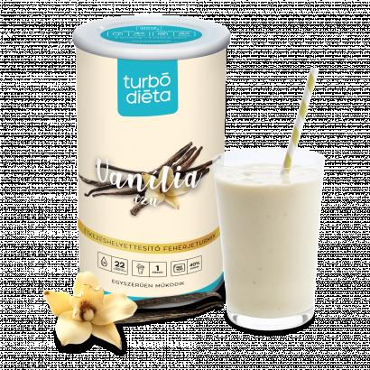 Turbó Diéta fehérje-turmixpor enzimmel, vaníliás 525 g