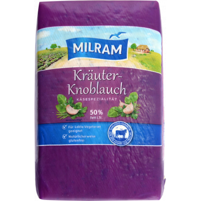 Milram cheese with green spices and garlic 50% 1.5 kg