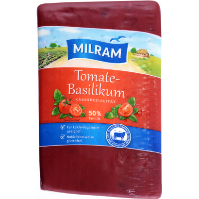 Milram tomato-basil cheese 50% block