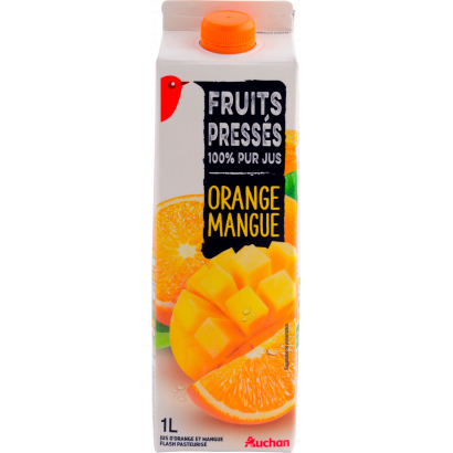 Auchan 100% narancs-mangó 1l