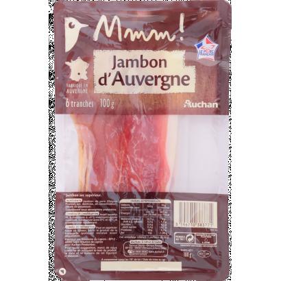 """Auchan Jambon d""""Auvergne 6 szelet sonka 100 g"""