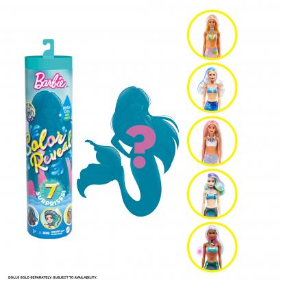 Barbie Color Reveal Meglepetés baba - Tündöklő sellők