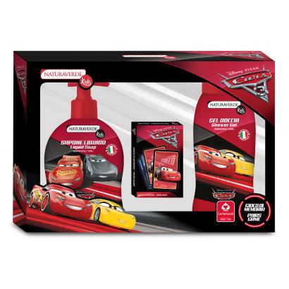 Naturaverde Kids Cars3 Tusfürdő 250 ml + Folyékony szappan 250 ml + Memória játék