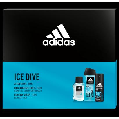 ADIDAS ICE DIVE AFTER SHAVE 50ML + DEZODOR 150ML + TUSFÜRDŐ 250ML FÉRFI