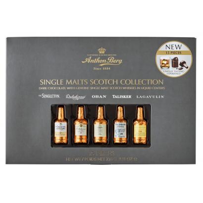 Anthon Berg Single Malt Scotch whiskyvel töltött csokoládék 15db-os 230 g